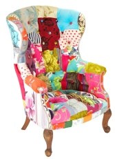 Patchwork chair by Curated (curatedonline.co.uk)