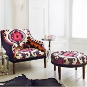 Suzani armchair and footstool from Graham & Green (grahamandgreen.co.uk)