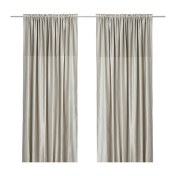 Off the shelf curtain panels c/o IKEA