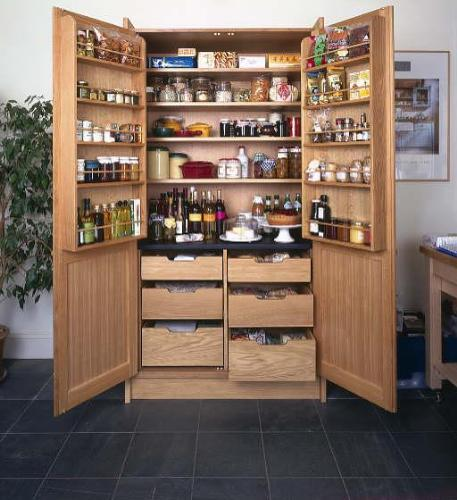 Larder pantry cupboard eyebrook design - Kitchen pantry cabinet design plans ...